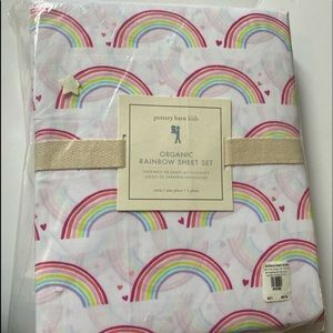 NEW pottery barn kids organic twin sheets 3pc
